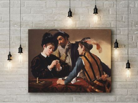 Caravaggio: The Cardsharps. Fine Art Canvas.